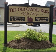 Old Candle Barn Sign